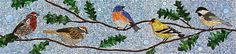 "Bird mosaic panel for the Mayo Hospital - by Barb Keith, via Flickr;  18""h x 78""w"