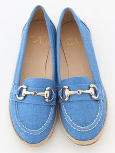Canvas loafer / ShopStyle: Natural Beauty * ビット付ローファー