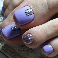 50 Beautiful Nail Art Designs & Ideas Nails have for long been a vital measurement of beauty and Pretty Toe Nails, Cute Toe Nails, Toe Nail Color, Toe Nail Art, Pedicure Designs, Toe Nail Designs, Yellow Nails Design, Finger Nail Art, Feet Nails