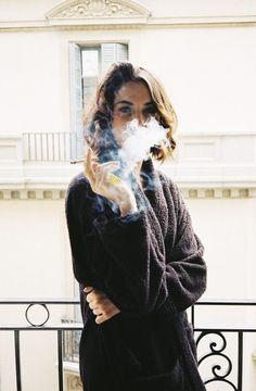 smoking woman & the balcony