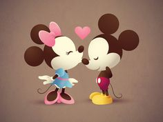 Mickey Mouse and Minnie Mouse <3 LOVE
