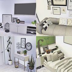 CASA BRANCA , casa inspirado em uma casa tumblr toda em branco e preto / TS4 / The sims 4