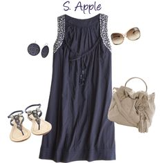 """Navy Dress"" by sapple324 on Polyvore"