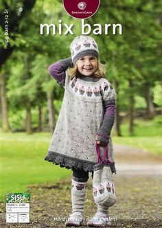 Sandnes Garn. Hefte: 1109 Mix Barn. Nr   1, Tunica med cupcake. Str 2 - 6 år.