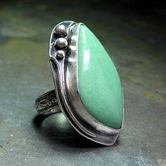 Lucin Utah Variscite Ring - Seafoam   by Lavender Cottage Jewelry >> Stunning!!!