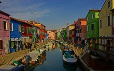 Isola di Burano: le case colorate di Burano - I was there, & it was so colorful & lovely.