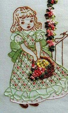 Wonderful Ribbon Embroidery Flowers by Hand Ideas. Enchanting Ribbon Embroidery Flowers by Hand Ideas. Brazilian Embroidery Stitches, Types Of Embroidery, Hand Embroidery Stitches, Silk Ribbon Embroidery, Hand Embroidery Designs, Vintage Embroidery, Embroidery Techniques, Embroidery Kits, Cross Stitch Embroidery