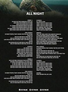 All Night Lyrics