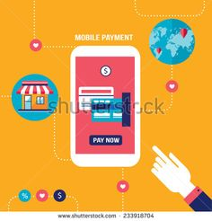 Mobile payment Online shopping and e-commerce concept