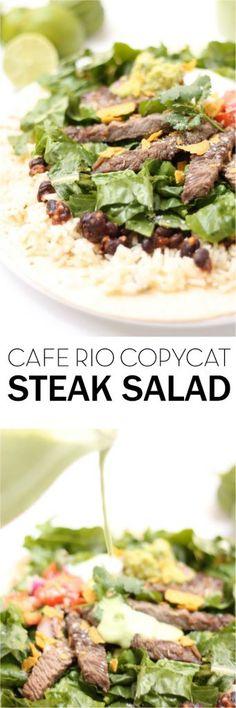 Cafe Rio Copycat Steak Salad on Six Sisters' Stuff