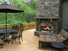 Patio Outdoor #Fireplace