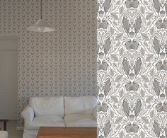small wallpaper projects from 2016 Button Type, Types Of Buttons, Fabric Wallpaper, Surface Pattern Design, Fabrics, Wallpapers, Curtains, Projects, Color