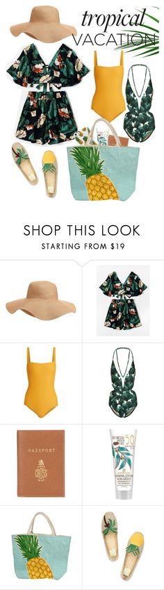 """""""TROPICAL VACATION"""" by emmieelisabethg ❤ liked on Polyvore featuring Old Navy, Matteau, ADRIANA DEGREAS, Barrie and Tory Burch"""