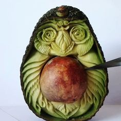 My Owl Barn: Incredible Fruit and Vegetable Carving by Vincenzo Scuruchi