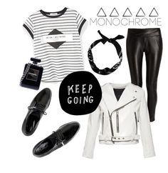 """""""Untitled #234"""" by janicevc on Polyvore featuring MANGO, Dear Frances, Morgan, Marc Jacobs, New Look, Chanel and monochrome"""