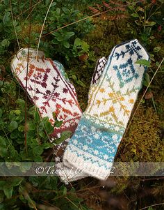 Ravelry: TanteUll's 116-6 Mittens in handspun ... free pattern from DROPS design