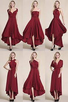 Image result for twist wrap bridesmaid dresses burgundy