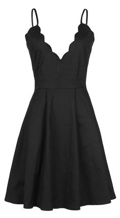 A cute little black dress to get with Only $23.99&Free shipping&easy return! This A-line slip dress is detailed with plunging neckline, ruffle&open back design. Fall in this sweetest dream with Cupshe.com