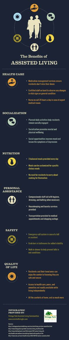 Seniors who socialize enjoy better mental and physical wellbeing and reduced signs of depression. Turn to this infographic from an assisted living community in Kansas City to learn more about this and other benefits of assisted living.