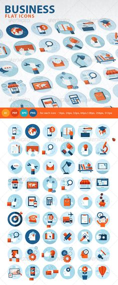 Set of Flat Design Concept Icons — Transparent PNG #business #app • Available here → https://graphicriver.net/item/set-of-flat-design-concept-icons/7759069?ref=pxcr