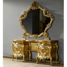 Nothing says extravagance like this dressing table! For a lady thats well..a little OTT? :)