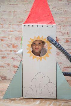 Foguete de papelão #rocket #papelão #foguete #kids
