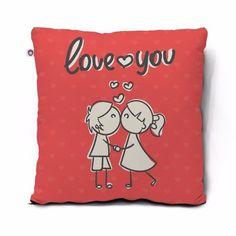 Almofada Presenteável Love You 45x45cm