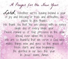 18 best new years prayer images on Pinterest | New years prayer ...