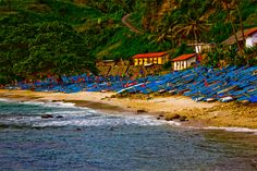 ~ Fishing Boats ~ at Menganti Beach, Kebumen, a regency in the southern part of the Indonesian province of Central Java.