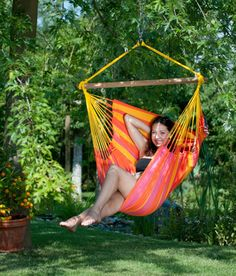 Mayan Hammock chairs, Brazilian chairs and suspended hanging chairs. Mayan Hammock, Hammock Chair, Outdoor Furniture, Outdoor Decor, Chair, Colourful Birds, Sun Lounger, Hanging Chair, Backyard Furniture