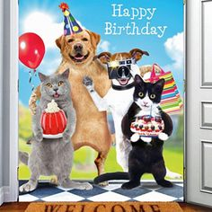 Cats & Dogs Surprise Birthday Card Best Day Ever! Happy Birthday To Ya, Happy Birthday Cards Images, Happy Birthday Animals, Funny Happy Birthday Wishes, Happy Birthday Beautiful, Happy Birthday Pictures, Cat Birthday, Happy Birthday Greetings, Animal Birthday