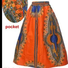 African Clothing. African Dashiki Print Maxi Skirt - Orange Dashiki Print  Maxi Skirt, African Print Maxi Skirt, Orange Maxi  Skirt by ZabbaDesigns on Etsy