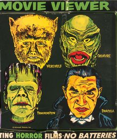 I might have a thing for classic horror Classic Monster Movies, Classic Horror Movies, Classic Monsters, Horror Movie Posters, Horror Films, Horror Art, Horror Icons, Retro Horror, Vintage Horror