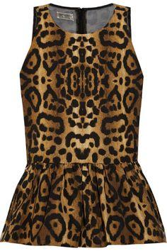 Giambattista Valli peplum top    #giambattistavalli #peplum #leopard #top #fashion #style