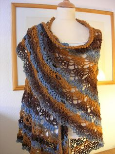 Evening Shawl By Wolf Crochet - Free Crochet Pattern - (craftown)