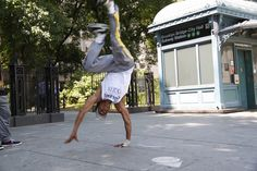 B-Boy in the street of NYC
