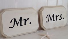 Hey, I found this really awesome Etsy listing at https://www.etsy.com/listing/197464841/mr-and-mrs-wood-signs-mr-and-mrs