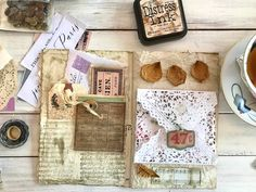 Let's Create a Junk Journal – Page Layouts FIVE STAR ! ***** This is about the most informative 'junk journal' idea+procedure site I have ever seen. It will be TOPS inthe front of my JUNQUE Board. Junk Journal, Journal Paper, Art Journal Pages, Art Journaling, House Journal, Bullet Journal, Journal Covers, Vintage Paper Crafts, Diy Paper
