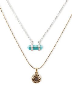 """Lucky Brand Double Layer Necklace "" https://www.shopstylecollective.com/search?cat=necklaces&fts=layer%20necklace&fl=p20:24"
