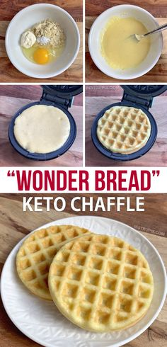 Looking for easy keto chaffle recipes? This low carb sandwich bread tastes just like Wonder Bread! It's quick, easy, delicious and a breeze to throw together in your mini waffle maker. Almond Joy, Almond Meal, Low Carb Bread, Low Carb Keto, Ketogenic Recipes, Low Carb Recipes, Ketogenic Diet, Meal Recipes, Crockpot Recipes