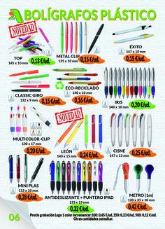 Página 6 - Bolígrafos Plástico