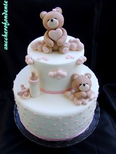 Torta orsetti www.zuccherofonde 2019 Torta orsetti www.zuccherofonde The post Torta orsetti www.zuccherofonde 2019 appeared first on Baby Shower Diy. Torta Baby Shower, Tortas Baby Shower Niña, Baby Cakes, Baby Birthday Cakes, Teddy Bear Cakes, Baby Shower Winter, Cute Cakes, Girl Shower, Cake Creations