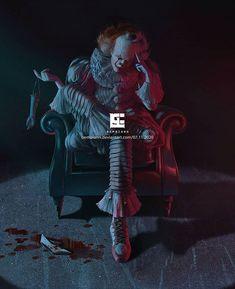 Clown Horror, Horror Art, Horror Movies, Sou Bi, Clown College, Funny Halloween Memes, It Movie 2017 Cast, Scary Wallpaper, Oliver Wood