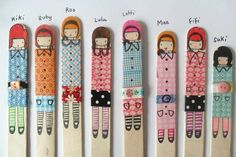 Washi tape crafts: Entertain kids of all ages making washi tapestick puppets. My girls loved doing this