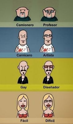 El poder de los anteojos...estereotipos y discriminación... Está de risa:)
