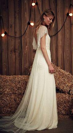 8c09b4a6365 Featured Dress  Jenny Packham  Wedding dress idea. 1920s Style Wedding  Dresses