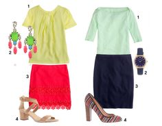 Two summer outfits from J.Crew plus 20% Off code #jcrew #workwear #corporate