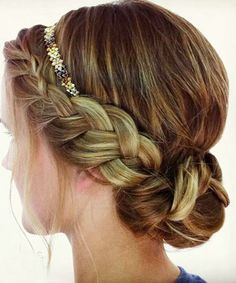 headband prom hair