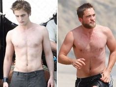 beardy buff robert pattinson lookin' more and more my type... just grow that sex hair back!! <3