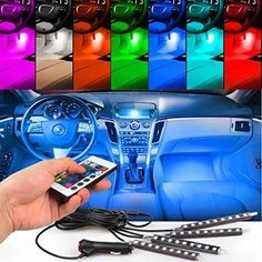 4pcs Car Interior Decoration, NERLMIAY Atmosphere Light-LED Car Interior Lighting Kit with 7 Color, Waterproof, Interior Atmosphere Neon Lights Strip for Car. For product info go to:  https://www.caraccessoriesonlinemarket.com/4pcs-car-interior-decoration-nerlmiay-atmosphere-light-led-car-interior-lighting-kit-with-7-color-waterproof-interior-atmosphere-neon-lights-strip-for-car/